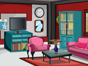 Glitter Red Living Room Escape
